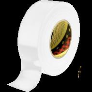 3M 389 Vodeodolná farebná textilná páska  - biela