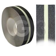 Protišmyková páska - čierna/luminačným prúžkom