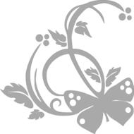 Reflexný motív - motýľ 1
