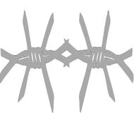 Reflexný motív - ostnatý drôt