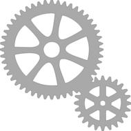 Reflexný motív - ozubené kolieska
