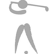 Reflexný motív - golfista 1