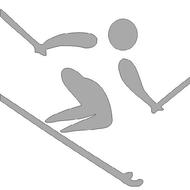 Reflexný motív - lyžiar
