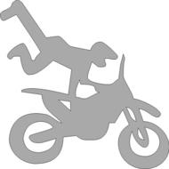 Reflexný motív - motocross